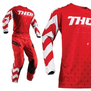 Thor Kids Pulse Stunner Red White Pants Image 2