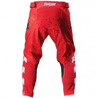 Thor Kids Pulse Stunner Red White Pants Image 3