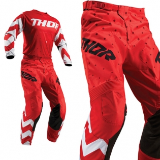 Thor Kids Pulse Stunner Red White Pants Image 4
