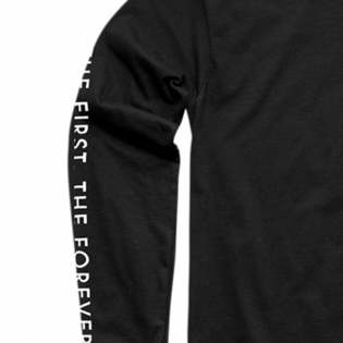 Thor Floral & Faded Long Sleeve Black T Shirt Image 2