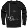 Thor Floral & Faded Long Sleeve Black T Shirt