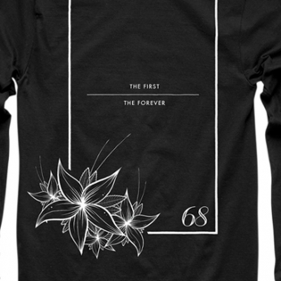Thor Floral & Faded Long Sleeve Black T Shirt Image 4