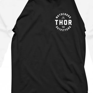 Thor Outfitters Raglan 3/4 Sleeves Black T Shirt Image 2