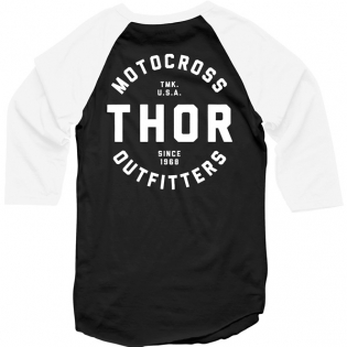 Thor Outfitters Raglan 3/4 Sleeves Black T Shirt Image 3