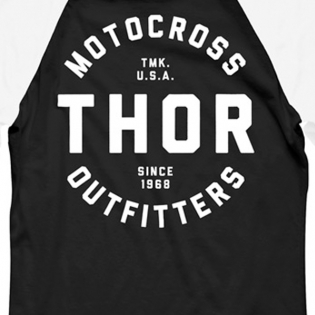 Thor Outfitters Raglan 3/4 Sleeves Black T Shirt Image 4