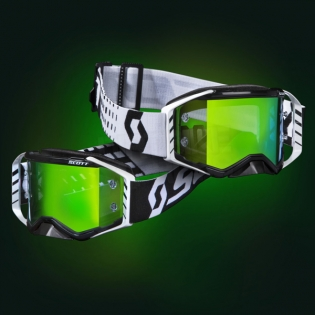 Scott Prospect Black White Green Chrome Goggles Image 2