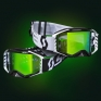 Scott Prospect Black White Green Chrome Goggles