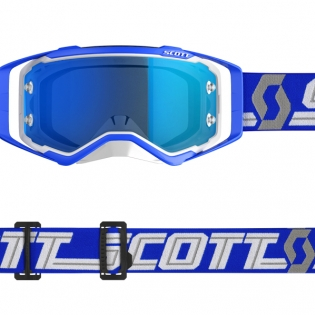Scott Prospect White Blue Electric Blue Chrome Goggles Image 3