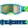 Scott Prospect Blue Teal Yellow Chrome Goggles