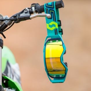 Scott Prospect Blue Teal Yellow Chrome Goggles Image 4