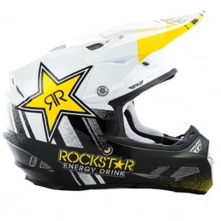 Fly Racing F2 Carbon MIPS Rockstar Black White Helmet Image 2
