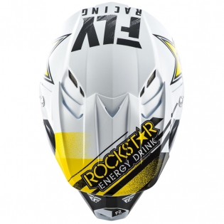 Fly Racing F2 Carbon MIPS Rockstar Black White Helmet Image 4