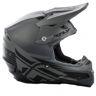 Fly Racing F2 Carbon MIPS Shield Matte Black Grey Helmet Image 2