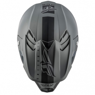 Fly Racing F2 Carbon MIPS Shield Matte Black Grey Helmet Image 4