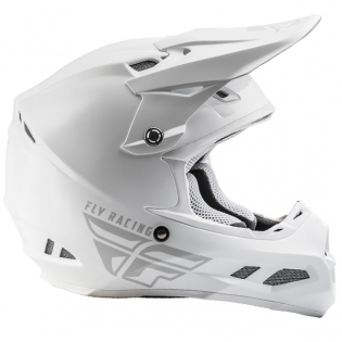 Fly Racing F2 Carbon MIPS Shield Solid White Helmet Image 2