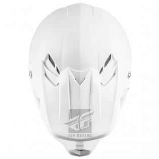 Fly Racing F2 Carbon MIPS Shield Solid White Helmet Image 4
