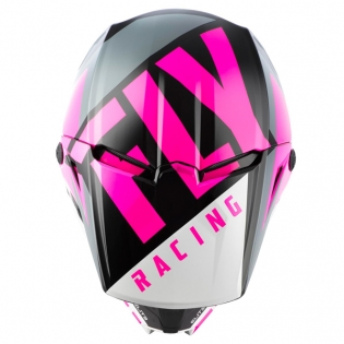 Fly Racing Elite Vigilant Pink Black Helmet Image 2