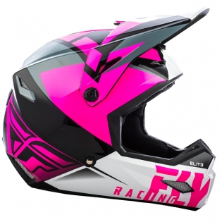 Fly Racing Elite Vigilant Pink Black Helmet Image 3
