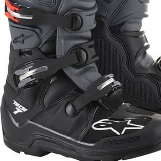 Alpinestars Tech 7 Black Grey Red Fluo Enduro Boots Image 4