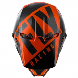 Fly Racing Kids Elite Vigilant Orange Black Helmet Image 2