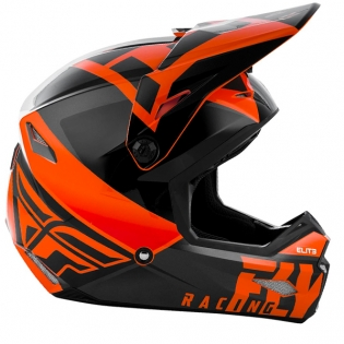 Fly Racing Kids Elite Vigilant Orange Black Helmet Image 3