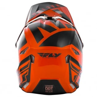 Fly Racing Kids Elite Vigilant Orange Black Helmet Image 4