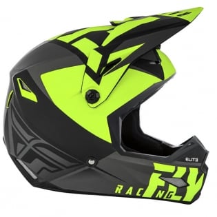 Fly Racing Kids Elite Vigilant Black Hi Viz Helmet Image 3