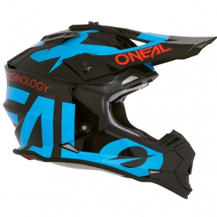 ONeal 2 Series RL Slick Black Blue Helmet Image 4