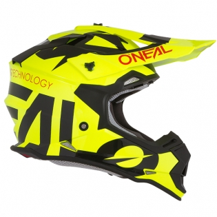 ONeal 2 Series Kids Slick Neon Yellow Black Helmet Image 4