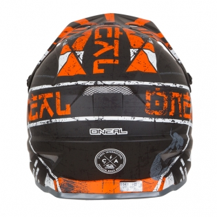 ONeal 3 Series Zen Orange Motocross Helmet Image 2