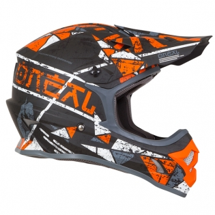 ONeal 3 Series Zen Orange Motocross Helmet Image 4