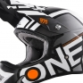 ONeal 3 Series Radium Black White Motocross Helmet