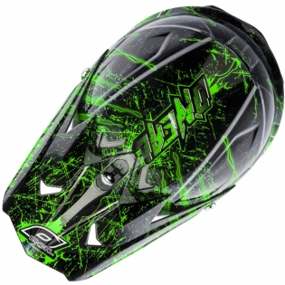 ONeal 3 Series Kids Mercury Black Green Helmet Image 2