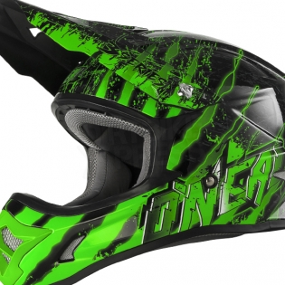 ONeal 3 Series Kids Mercury Black Green Helmet Image 3