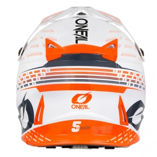 ONeal 5 Series Trace White Orange Motocross Helmet Image 2
