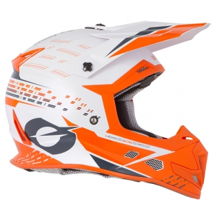 ONeal 5 Series Trace White Orange Motocross Helmet Image 4