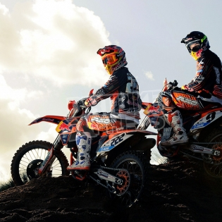 Acerbis Ltd Edition TLD Plastic Kit - KTM SXF - Back In Black Image 4