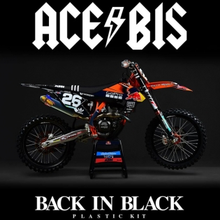 Acerbis Ltd Edition TLD Plastic Kit - KTM SX - Back In Black Image 2