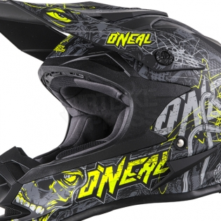 ONeal 7 Series Evo Menace Grey Hi Viz Motocross Helmet Image 3