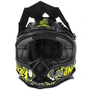 ONeal 7 Series Evo Menace Grey Hi Viz Motocross Helmet Image 4