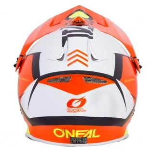 ONeal 8 Series Blizzard Orange Motocross Helmet Image 2