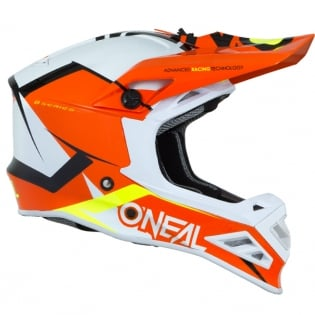 ONeal 8 Series Blizzard Orange Motocross Helmet Image 3