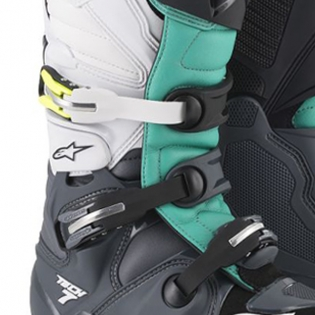 Alpinestars Tech 7 Dark Grey Teal White Boots Image 3