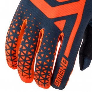 Answer AR-1 Kids Flo Orange Charcoal Gloves Image 4