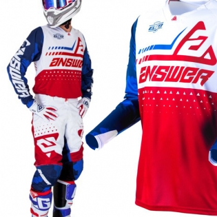 Answer Elite Discord Red White Jersey Image 2