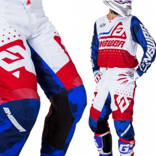 Answer Elite Discord Red White Pants Image 4