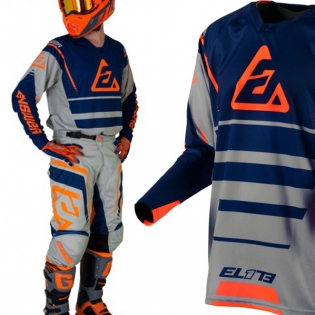 Answer Elite Force Charcoal Midnight Orange Jersey Image 2