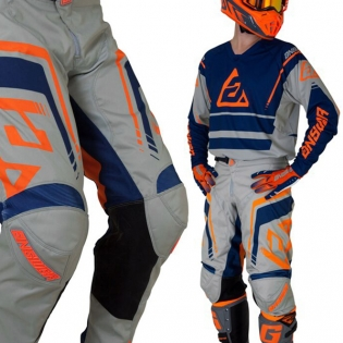 Answer Elite Force Charcoal Midnight Orange Jersey Image 4