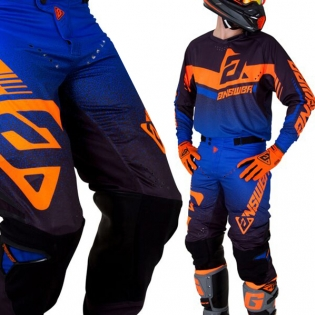 Answer Trinity Black Cobalt Flo Orange Pants Image 4