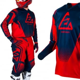 Answer Syncron Kids Drift Bright Red Midnight Jersey Image 2